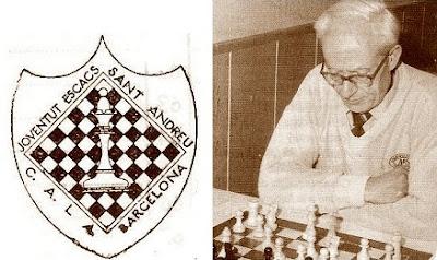 Josep Grau, el jugador del Casal y de la Joventut Escacs de Sant Andreu