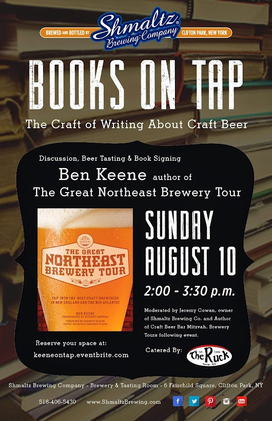 Books on Tap at Shmaltz Brewing Company