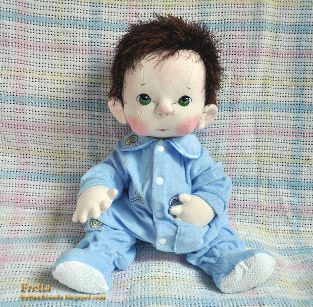 """Fretta Fretta' Peanut Baby Doll. Life Size 19.5"""" 50 Cm"""