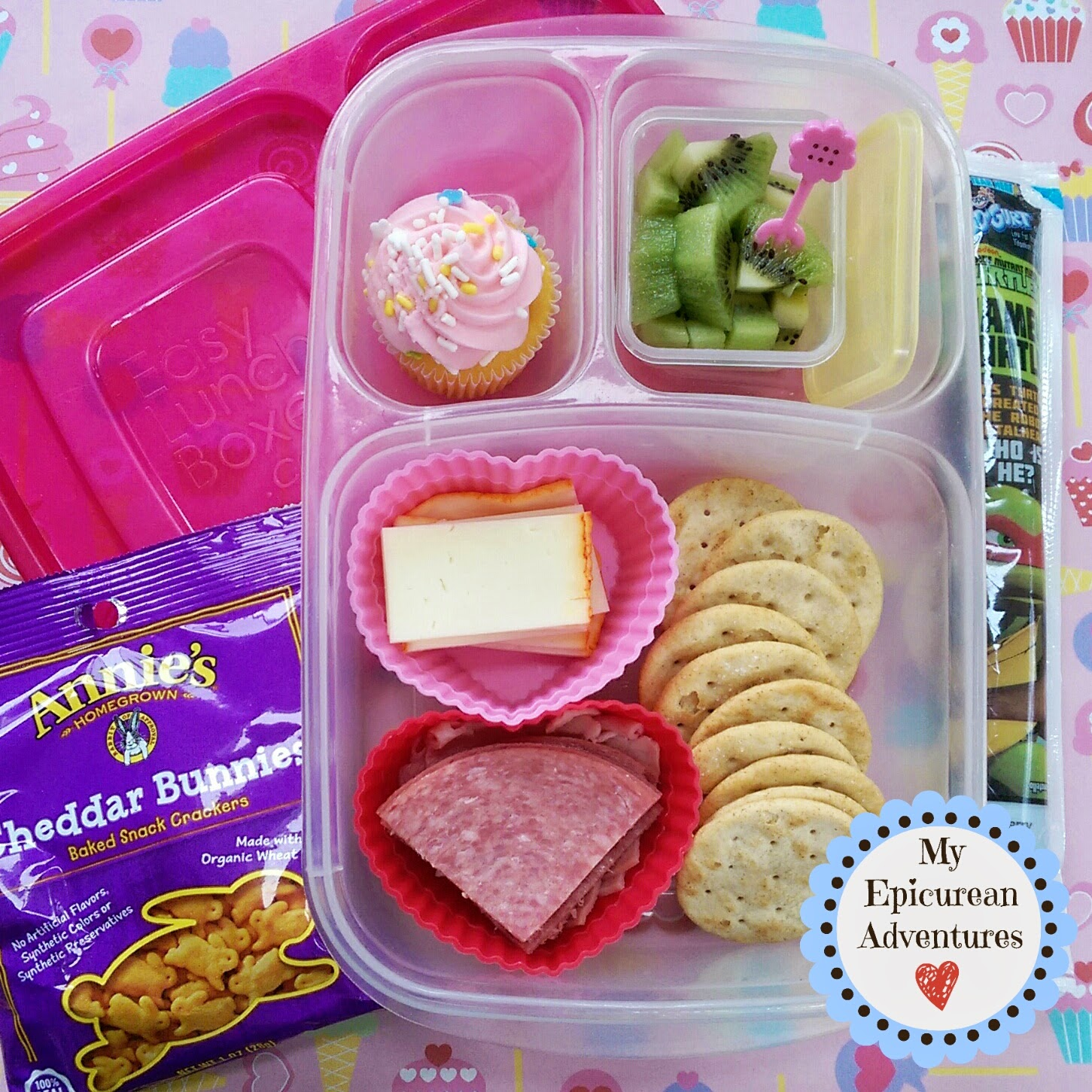 "Easy Peasy DIY Lunchables in @easylunchboxes... for when it's not so easy to ""spring forward"" ;)"