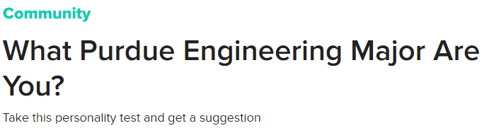 Boiler Buzzfeed Quizzes | The Engineering Experience