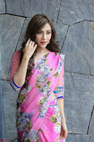 Actress Angela Krislinzki in Pink Saree Blouse Exclusive Pics March 2017 ~  132.JPG