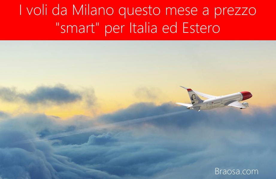 I voli più economici da Milano di questo mese con tariffe sotto i 50 euro