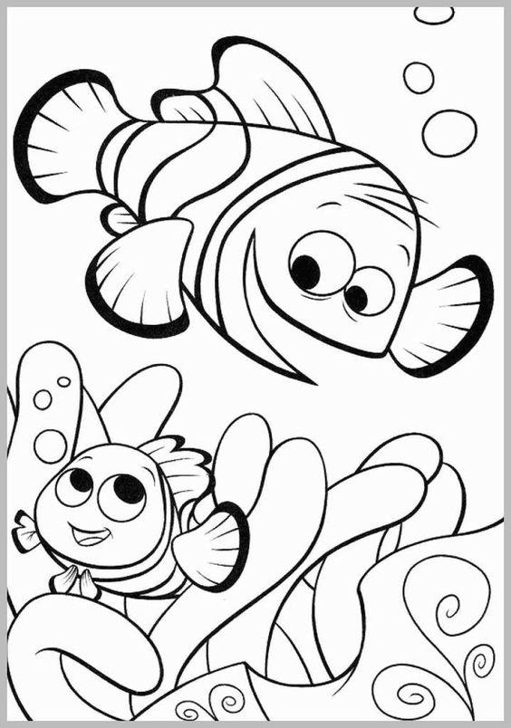 Tranh tô màu đi tìm cá Nemo 01