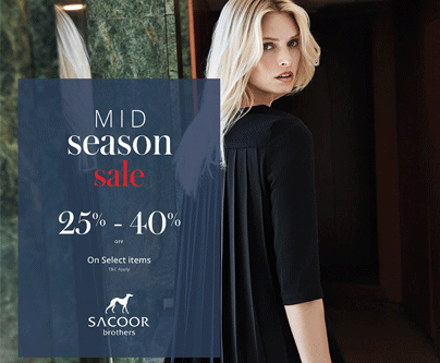 Sacoor Brothers Mid-season Sale - Upto 40% off