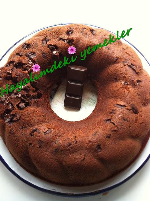 Kakaolu Bitter Çikolatalı Kek tarifi,resimli kakaolu kek nasil yapilir