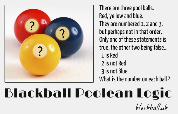 blackball pool balls logic puzzle