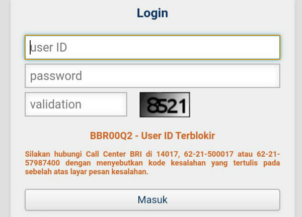 4 Penyebab User ID BRI Internet Banking Terblokir