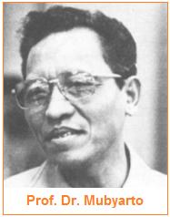 Salah satu pencetus ekonomi Pancasila - Prof. Dr. Mubyarto