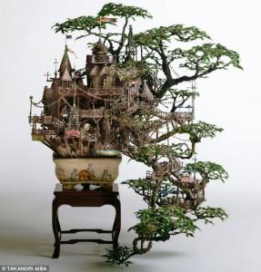 kamar-asik.blogspot.com - Seniman jepang ciptakan kreasi bonsai unik