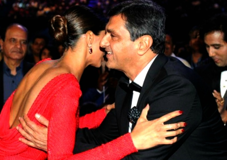 deepika with father-in-law