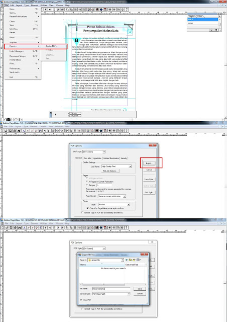 page wont export to pdf