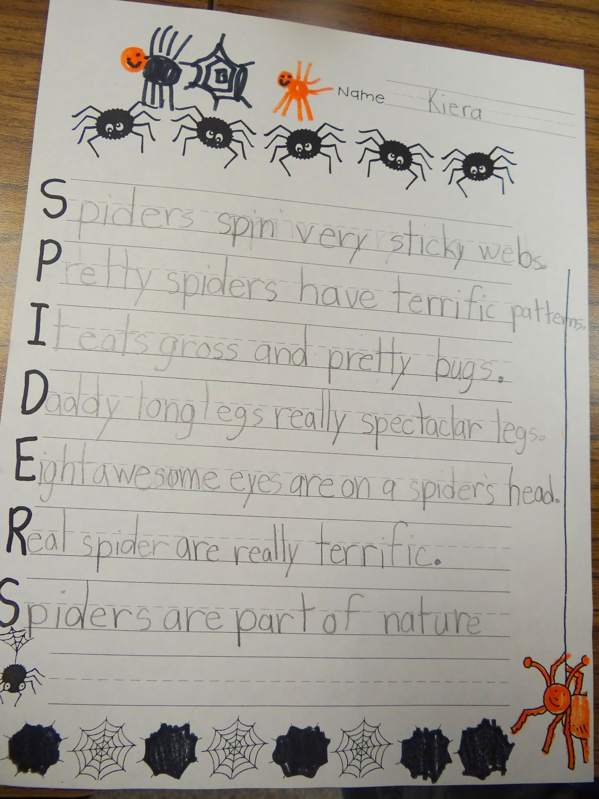 PATTIES CLASSROOM: Spider Art and Spider Acrostic Poems