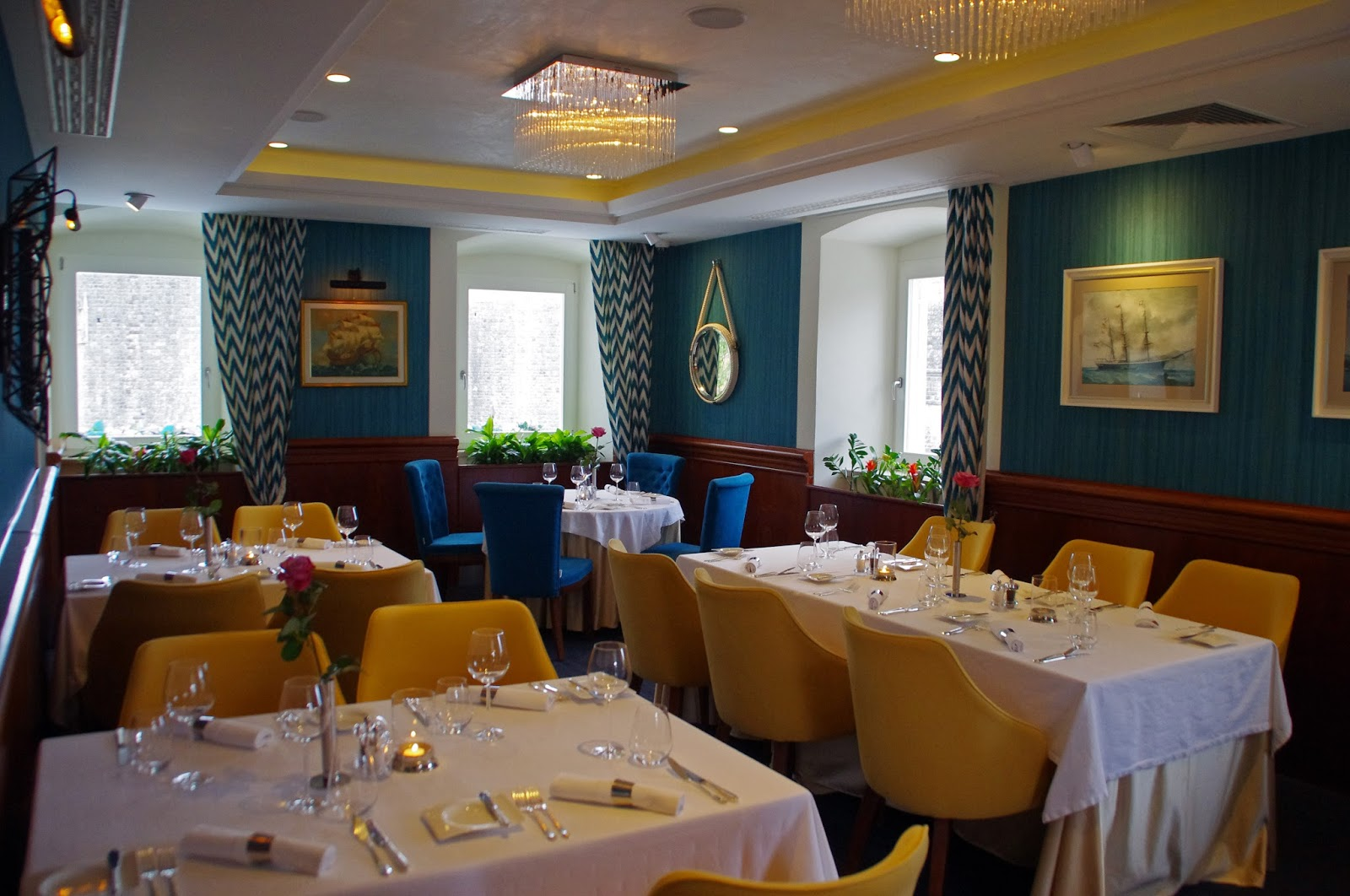 Inside Nautika Restaurant Dubrovnik