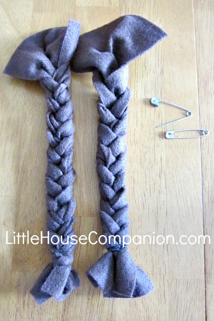 DIY Felt Braids for Costume