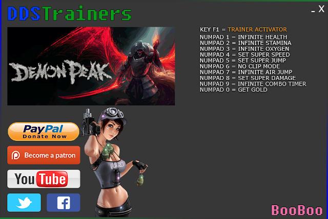 Demon Peak Trainer Cheat for PC