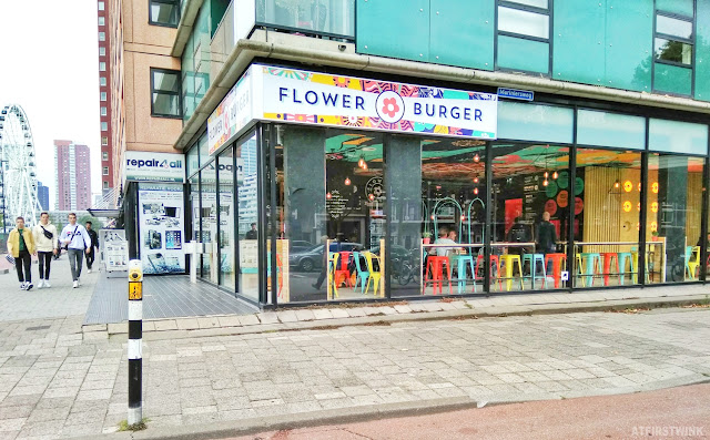 Flower burger Rotterdam the Netherlands