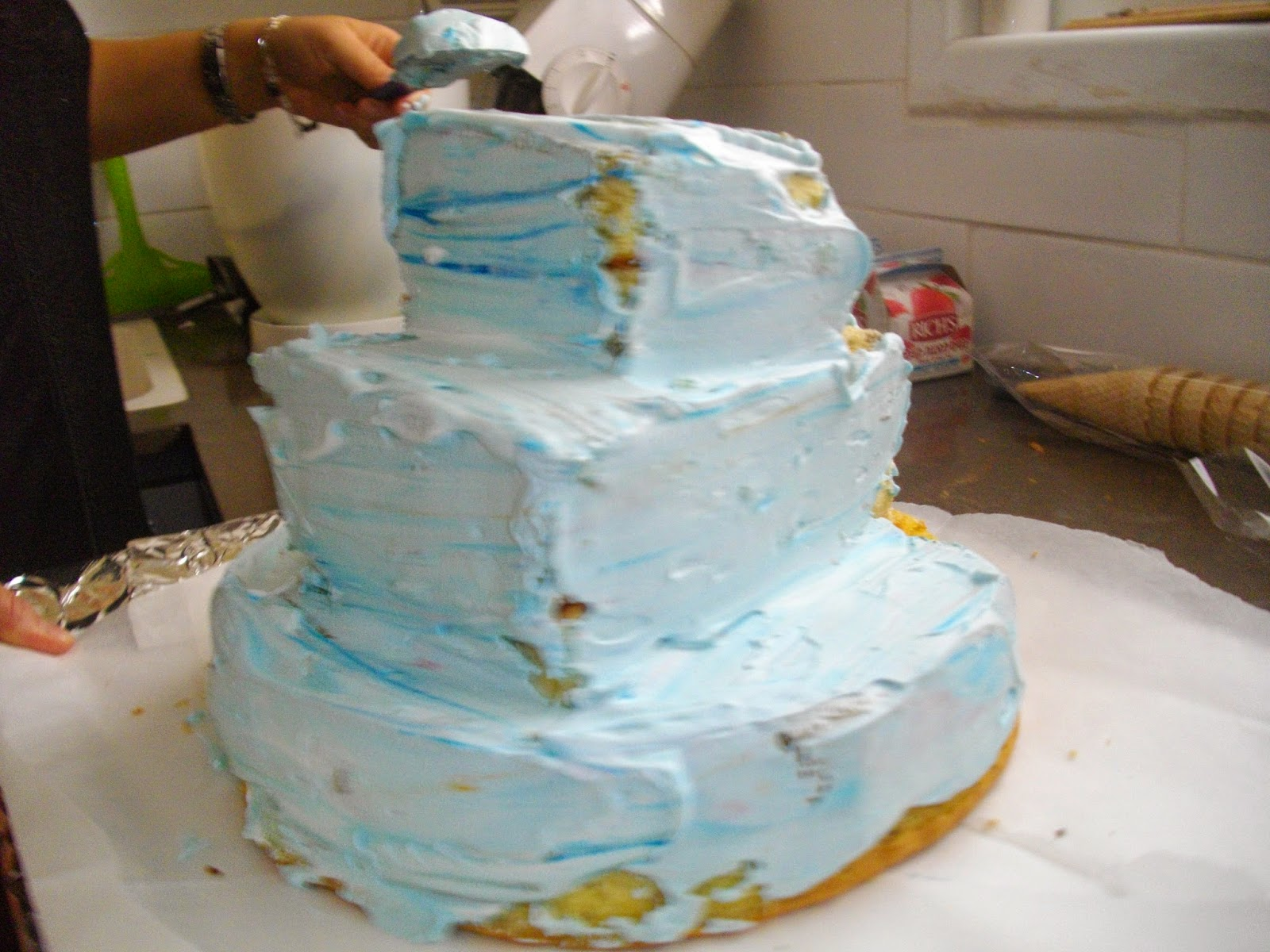 IMGP2867 - עוגת יומולדת בצורת ארמון