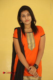 Telugu Actress Chandana Stills in Salwar Kameez at Karam Dosa Movie Press Meet  0033.JPG