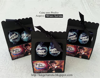 Caixas tema Harry Potter