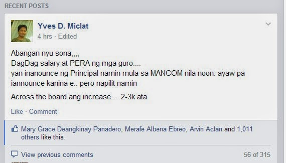 Yvas Miclat posted message