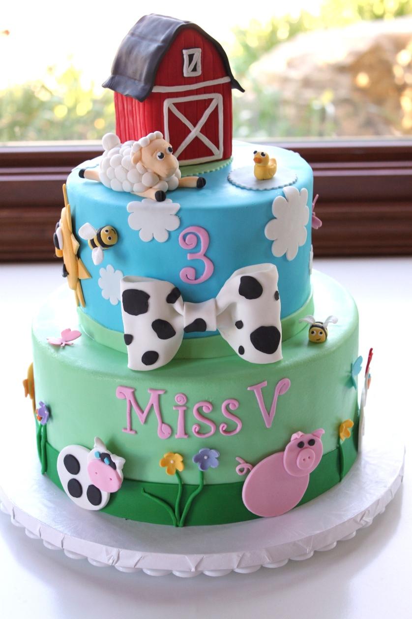 Green M M Birthday Cake