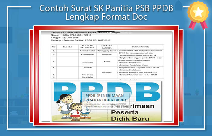 Contoh Surat SK Panitia PSB PPDB Lengkap Format Doc