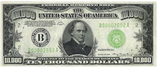 ءأكبر عملة ورقية تم طباعتها من فئة  الدولار largest  dollar currancy