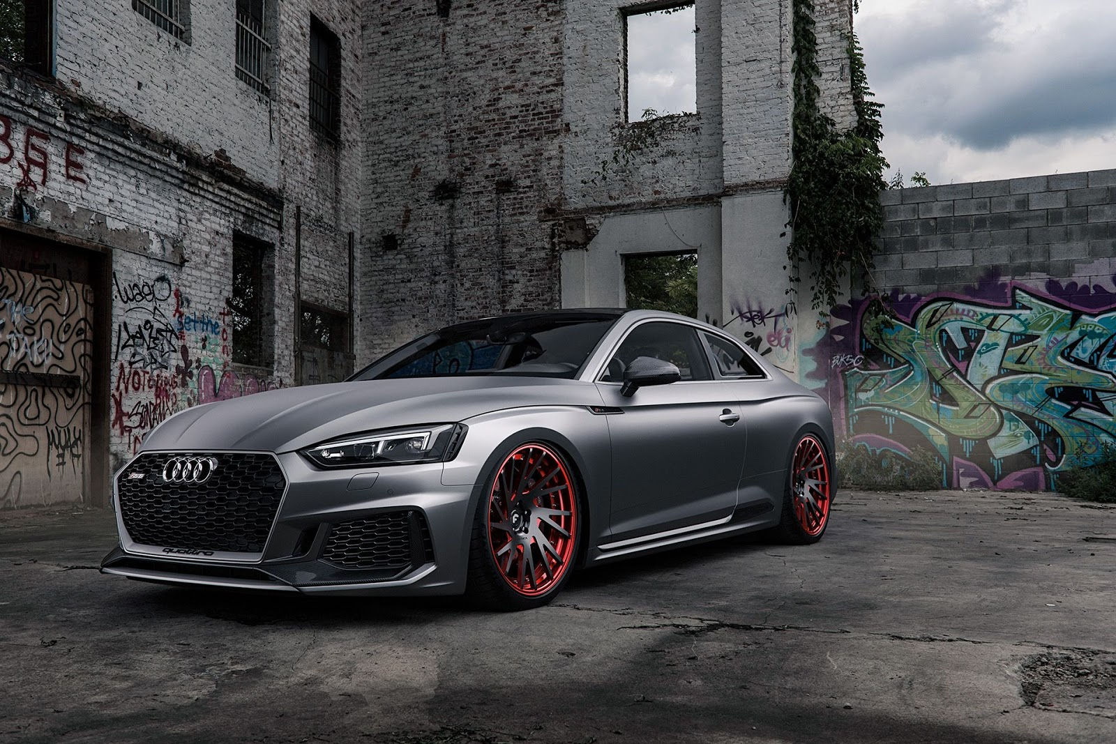 Matte Grey Audi Rs5 Is A Smooth Criminal Carscoops