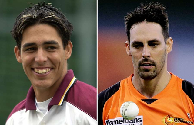 Mitchell Johnson then and now