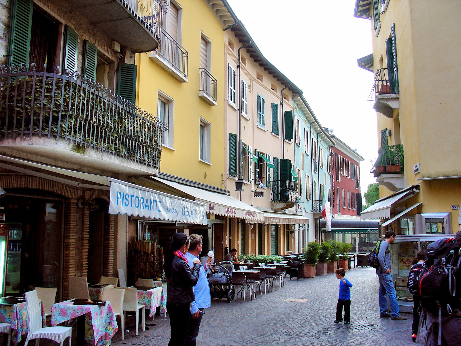 Stroll along the cobbled lanes in Sirmione.
