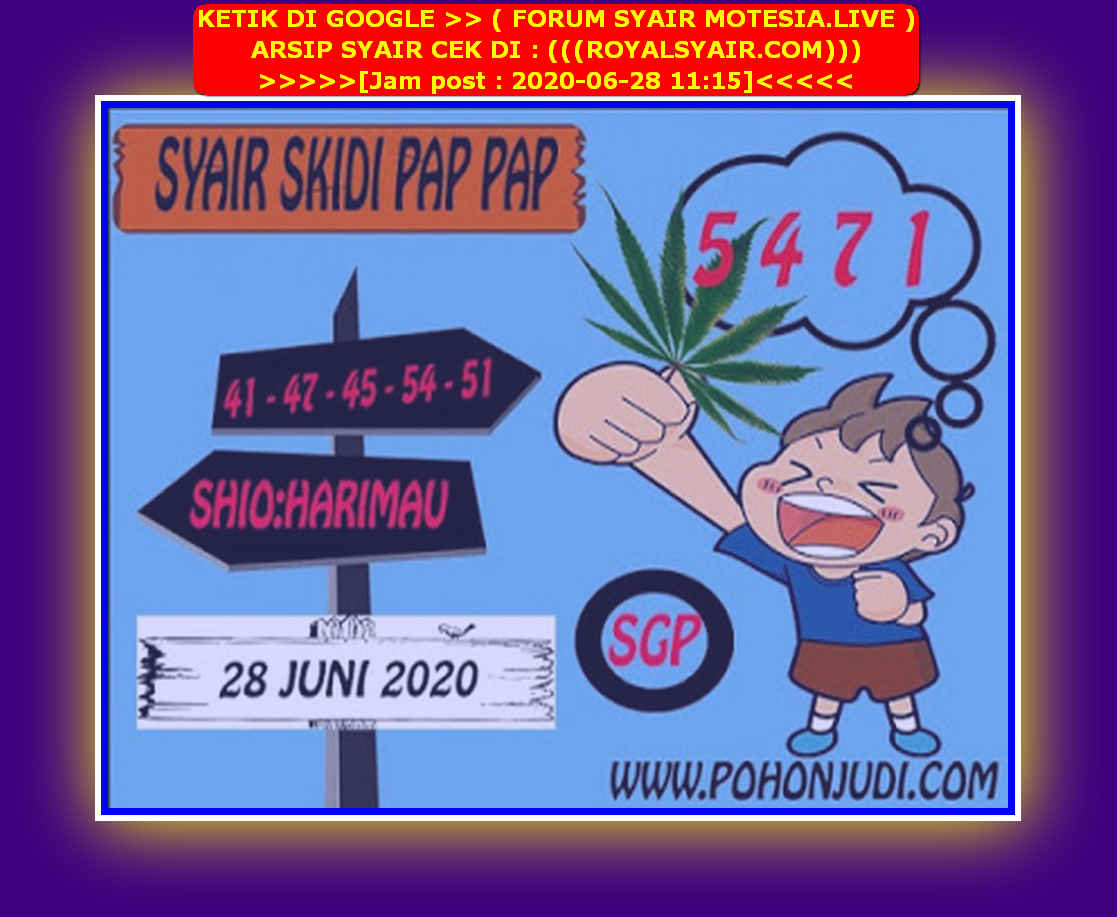 Kode syair Singapore Minggu 28 Juni 2020 126