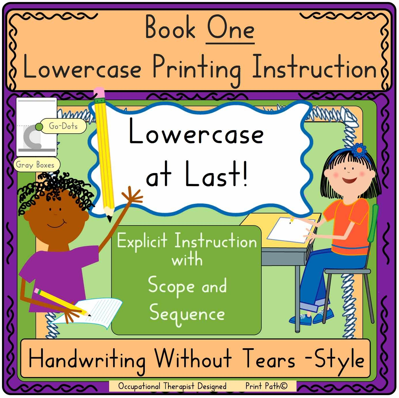Capitals First By Print Path Handwriting Sheets A Dime