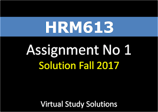 HRM613 Assignment No 1 Solution Fall 2017