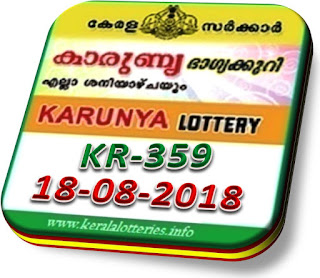 Live kerala lottery result karunya kr 359 from keralalotteries.info 18/8/2018, kerala lottery result karunya-359 18 July 2018, kerala lottery results 18-08-2018, official karunya result by 4 pm KARUNYA lottery KR 359 results 18-08-2018, KARUNYA lottery KR 359, live KARUNYA   lottery KR-359,