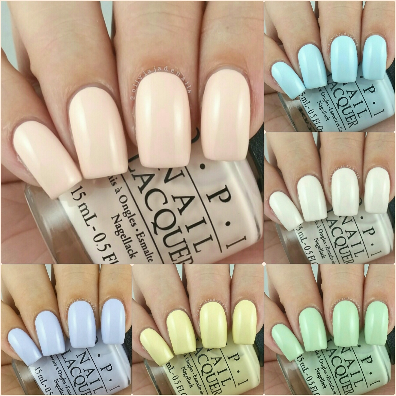 picture OPI Nail Lacquer, OPI Soft Shades Pastel Collection, One Chic Chick T73 0.5 Fluid Ounce