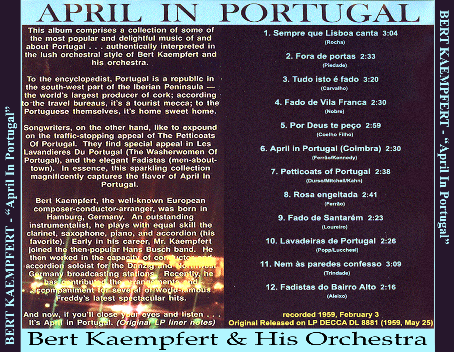 Bert Kaempfert E Sua Orquestra O Som Maravilhoso De Bert Kaempfert