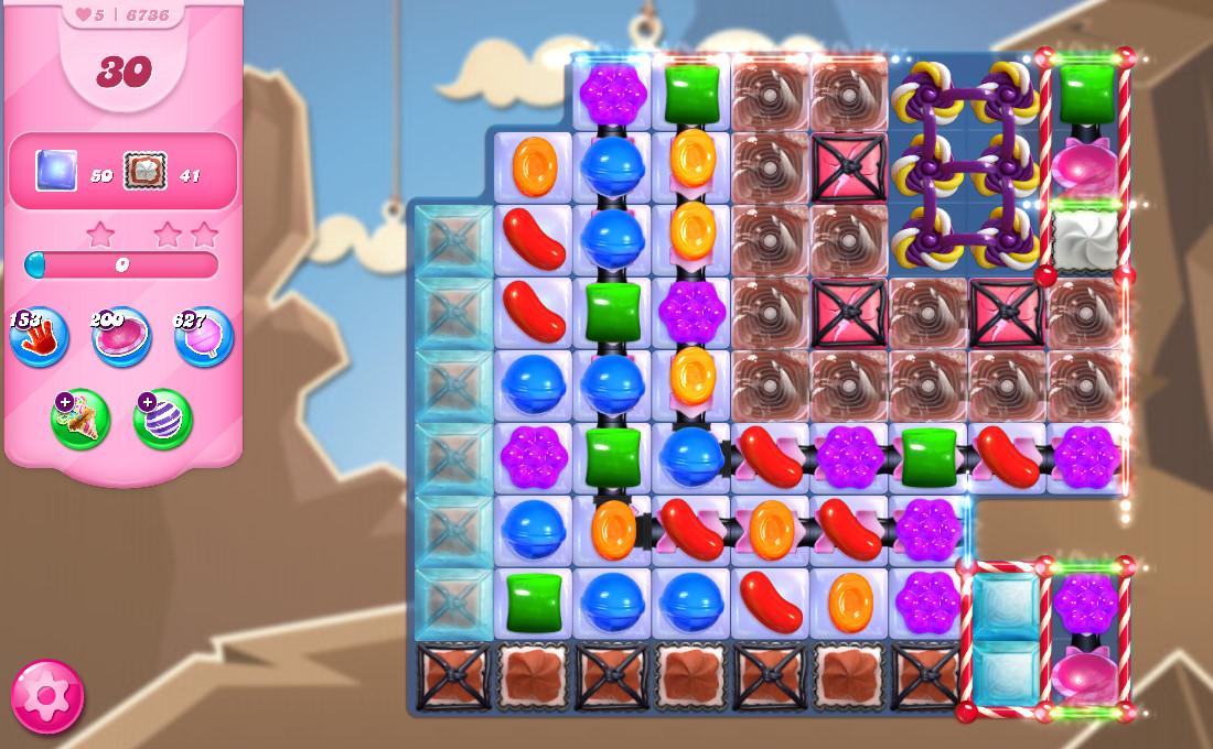 Candy Crush Saga level 6736