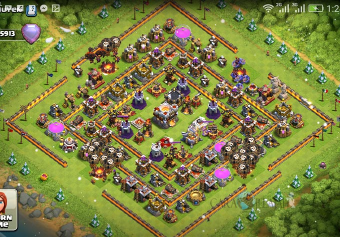 Base Trophy TH 11 COC Update Bomb Tower Terbaru 2017 Tipe 11