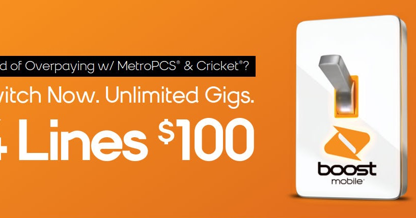 Boost Mobile Unveils New Four Unlimited Gigs Lines For