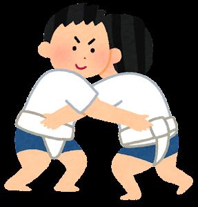 子供相撲のイラスト(男の子)