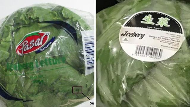 Penjualan produk salad dihentikan serta-merta