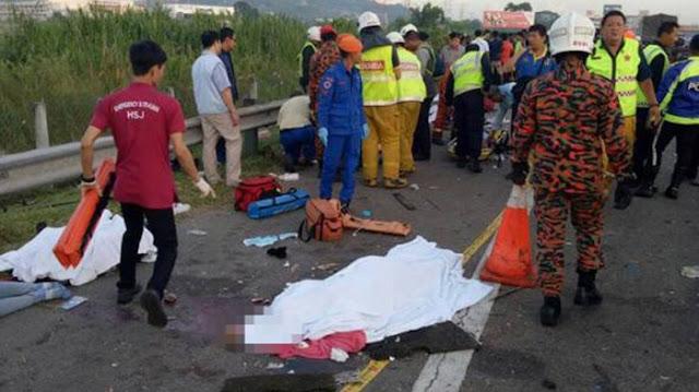 Kecelakaan maut di Penang Malaysia, 7 TKW meninggal