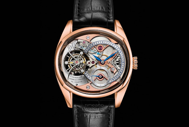 Andreas Strehler Trans-axial Remontoir Tourbillon in red gold
