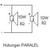 Sambungan Pararel speaker