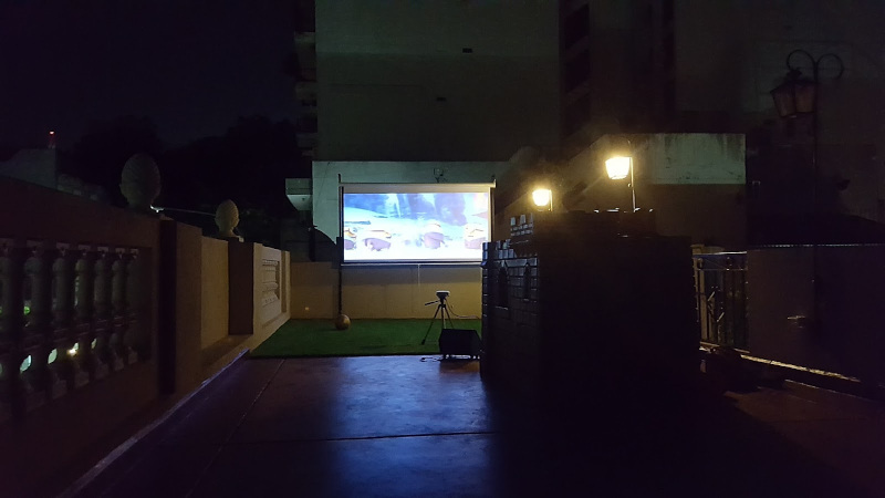 Cinema on terrace