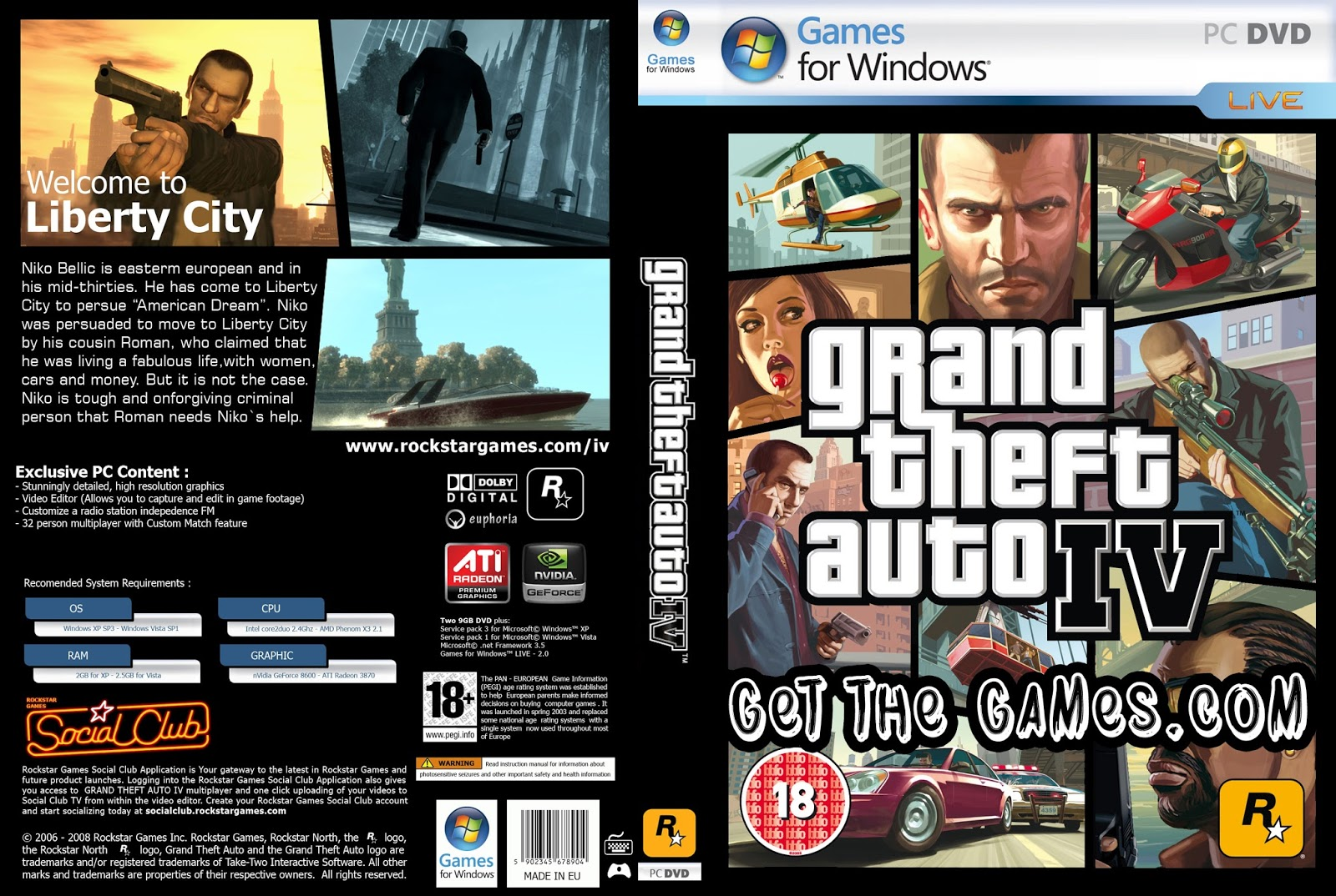 Grand Theft Auto 4/GTA 4 Free Download On PC! ~ Get The