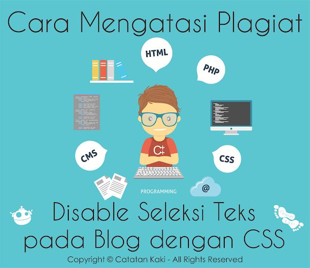 Mencegah Plagiat Konten Blog dengan Disable Blok Teks