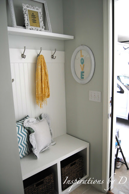 Inspirations By D Small Mudroom Entry Reveal