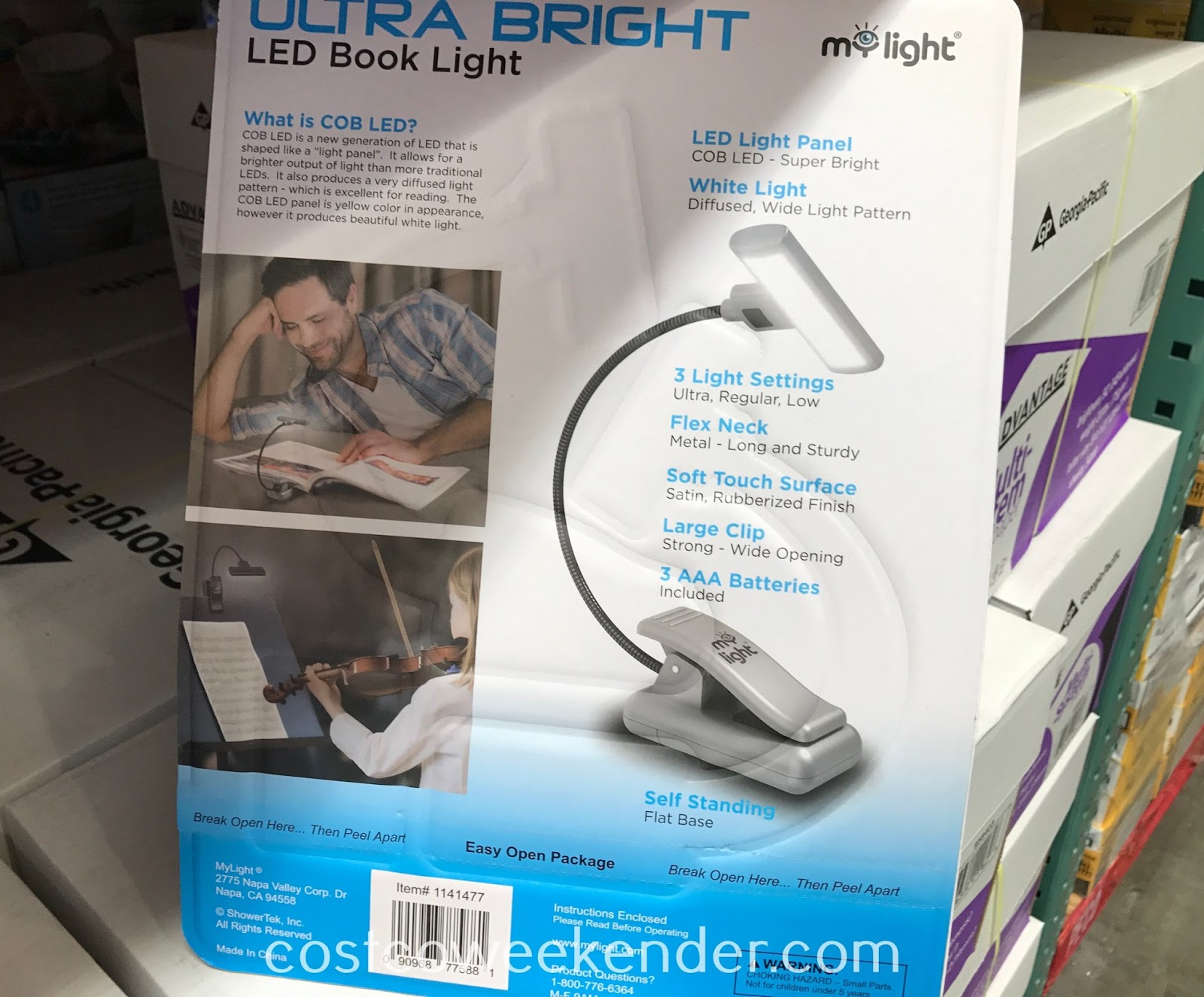 Costco 1141477 - MyLight Ultra Bright LED Book Light: save your eyes and get proper lighting when reading